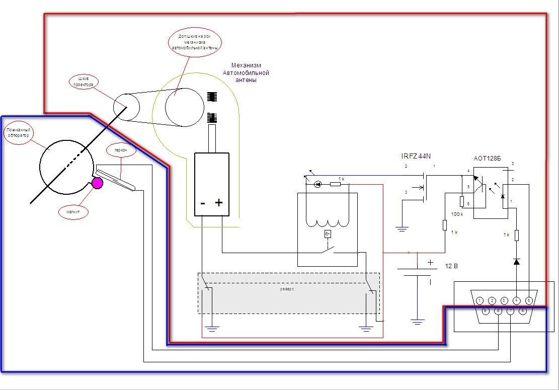 подключения геркона к компьютеру через COM порт (можно использовать и левую кнопку мыши, НО тогда на компьютере пока...