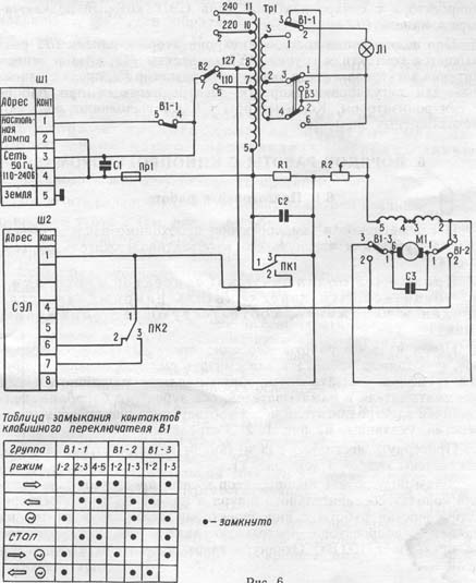 Схема кинопроектора Русь